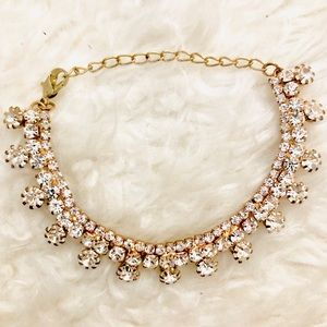 87571307785e6 Gold & Diamond Indian Bollywood Statement Bracelet